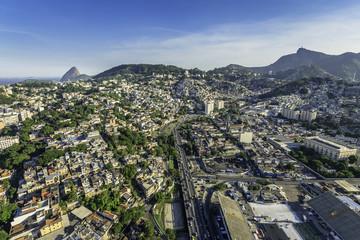 Aerial view of Rio de Janeiro with highway