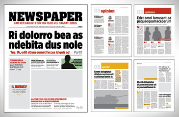 Graphical design newspaper template vector illustration