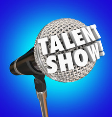 Talent Show Microphone Words Singing Competition Event