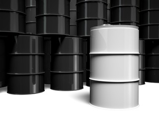 Oil Drum. 3D. Oil Barrels