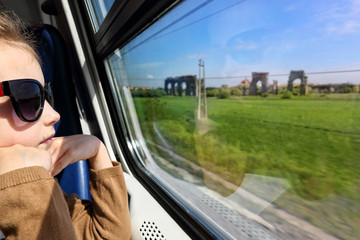 Travel by train through Italy