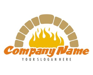 fireplace oven logo image vector