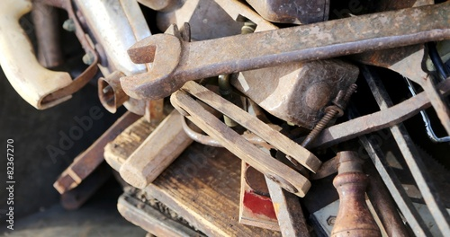 "old tools rust for sale by junkman"" stock po and royalty-free ..."