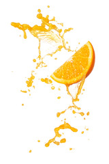 Wall Mural - orange splash