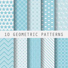 grometric blue patterns