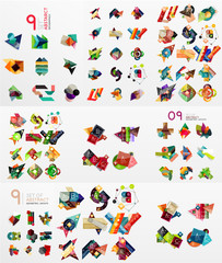 Vector set of paper graphics