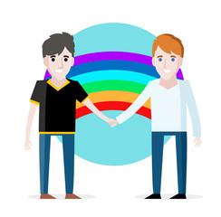 una pareja de gays enamorados