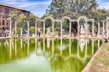 The Ancient Pool called Canopus in Villa Adriana