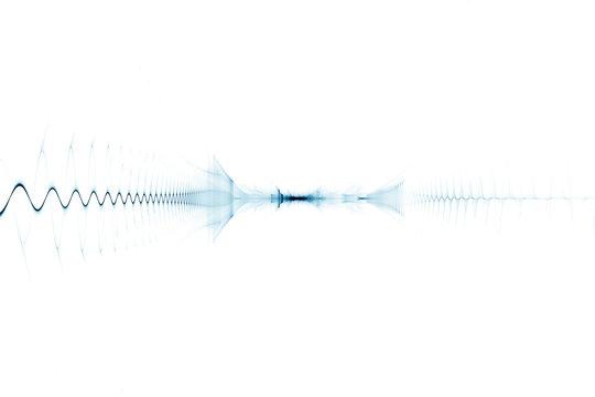 Bright digital sound wave background
