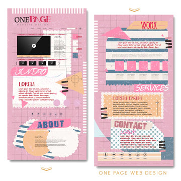 cute one page website template design