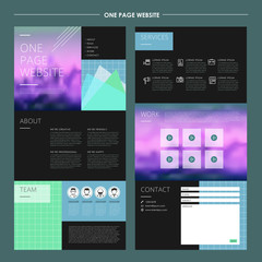 abstract one page website template design