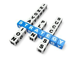 Business. 3D. Strategy crossword