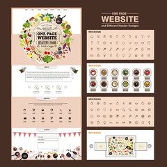 adorable one page website template design