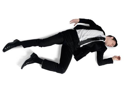 Business man sleep position