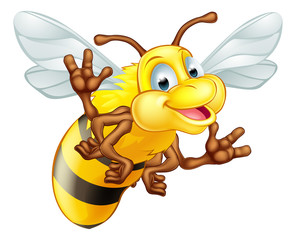 Cartoon cute bee
