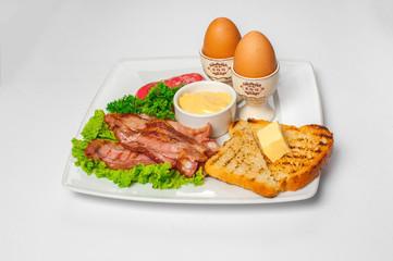English breakfast. Studio photo