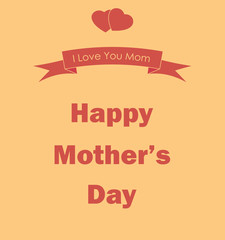 Happy Mother's Day poster. Vector illustration