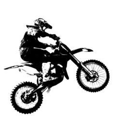 Estores personalizados de deportes con tu foto Rider participates motocross championship.  Vector illustration.