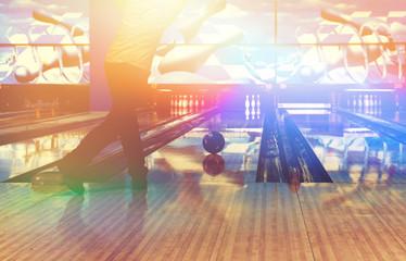 boy in a bowling club