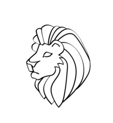 Vector of lion head