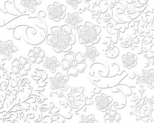 White laces elegant floral background