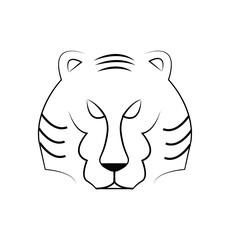 Vector of Tiger head outline, illustration