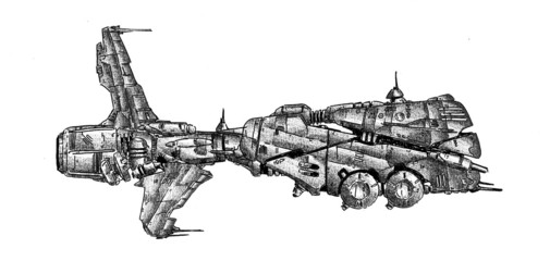 Spaceship art drawing sketch illustration