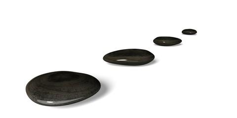 Stone. 3D. Stones in Row