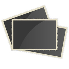 Retro Photo Frame   On White Background. Vector illustration
