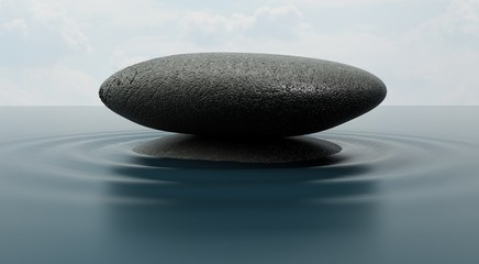Relaxation. 3D. Stone in Water