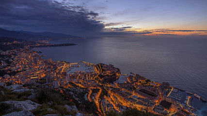 Fototapete - Monaco Monte Carlo sunrise