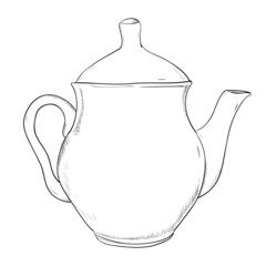 Vector sketch of teapot