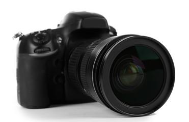 digital photo camera isolated on white