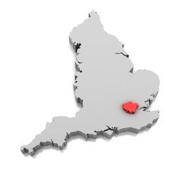 Greater London region in England