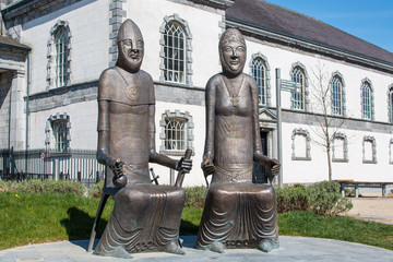 Strongbow and Aoife Bronze Statues in Waterford Ireland