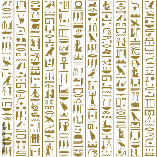 """""""Ancient Egyptian Hieroglyphs Seamless"""" Stock Image And"""