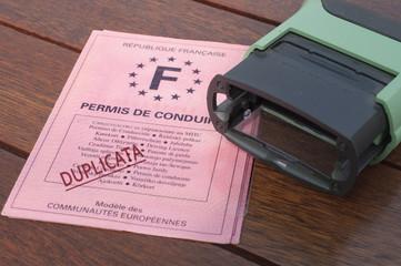 permis de conduire  duplicata