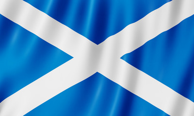 Flag of Scotland Wall mural