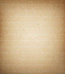 Old striped, recycled brown paper texture or background