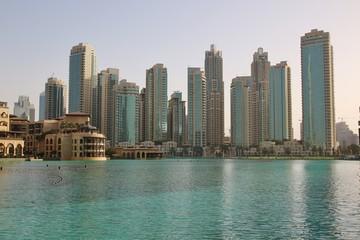 Skyscrapers in Financial part of Dubai