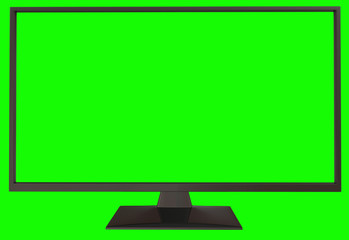 TV with green screen