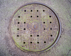 Kentucky Electric Manhole Cover Mossy Green Iron Plate