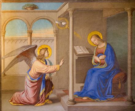 Rome - Annunciation fresco Chiesa della Trinita dei Monti.
