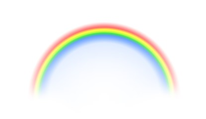 Rainbow on white background, illustration.