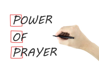 Power Of Prayer written by man's hand