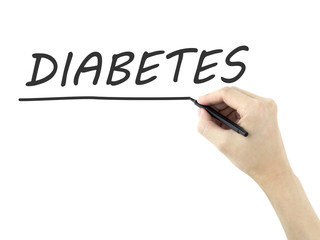 diabetes written by man's hand