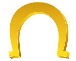 Bright 3d Shape Magnet Horseshoe