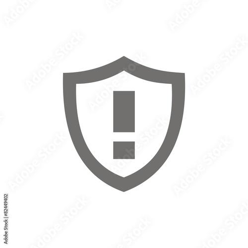 Icono Escudo Alarma Fb Stock Image And Royalty Free Vector Files On