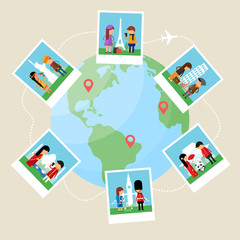 Vector illustration travel concept, flat style