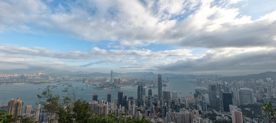 Hong Kong Panorama city View from The Peak